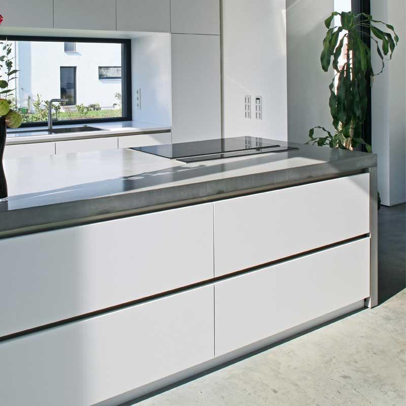 Küchenarbeitsplatte aus Beton