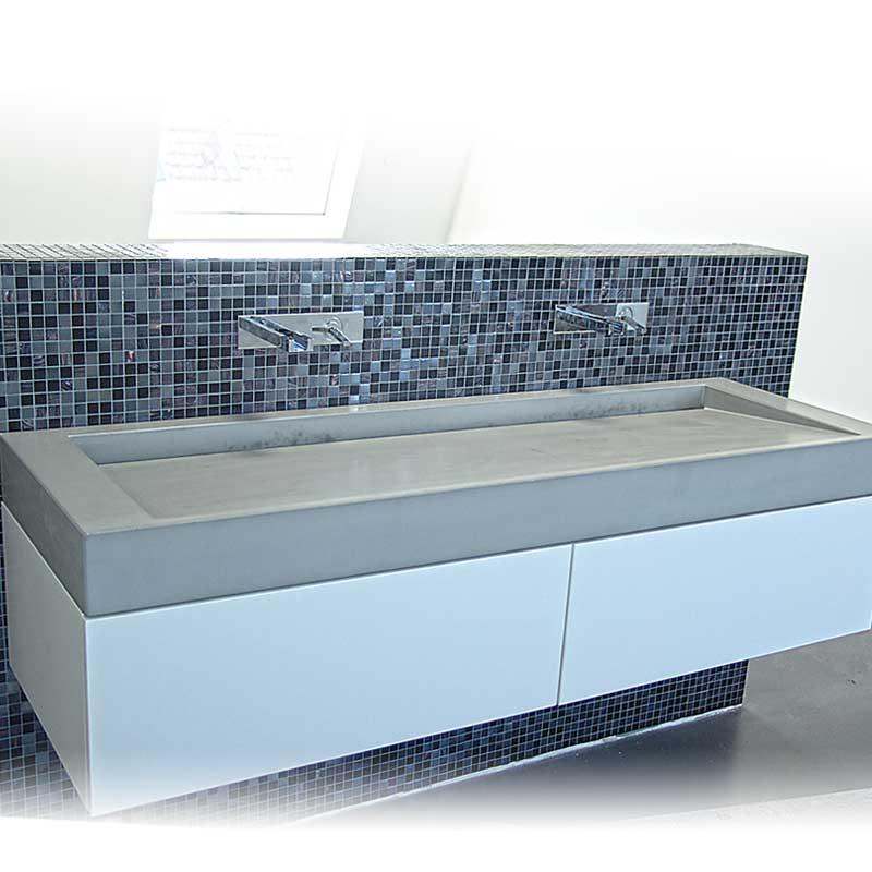 waschtisch rampe140 waschtische aus beton betonm bel. Black Bedroom Furniture Sets. Home Design Ideas