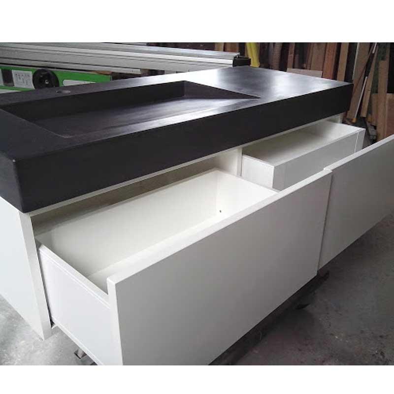 unterschrank mit zwei schubl den waschtische aus beton. Black Bedroom Furniture Sets. Home Design Ideas